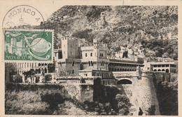 Le Palais Du Prince - 1er Jour  (timbre Vert 5f) - Maximumkarten (MC)