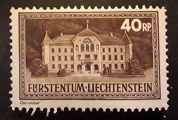 LIECHTENSTEIN 1935,   YVERT N° 133 , Palais De Vaduz , 40 R Sépia , Neuf ** / MNH TB - Unused Stamps