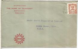 ESPINARDO MURCIA A USA TARIFA IMPRESOS SEGUNDA REPUBLICA - 1931-50 Cartas