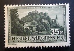 LIECHTENSTEIN 1935,   YVERT N° 132 , Ruines De Schellenberg , 35 R Vert  , Neuf ** / MNH TB - Unused Stamps