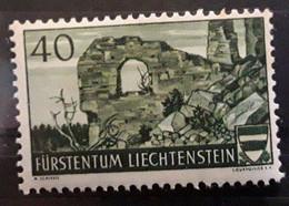 LIECHTENSTEIN 1937, Yvert 147, 40 R Vert Foncé,  Ruines De Schellenberg,  Neuf ** MNH TB - Unused Stamps