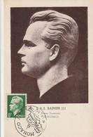 S.A.S. Rainier III Prince Souverain  -  1er Jour D'émission (timbre Vert 8f) - Cartoline Maximum