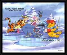 80148 Antigua & Barbuda Winnie The Pooh Winnie L'ourson Tigrou Disney Bloc (BF) Neuf ** MNH - Disney