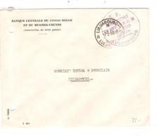 914PR/Kasai Lettre Franchise S.P. Banque Centrale Congo Belge&Ruanda-Urundi Caissier Colonial Luluabourg C 7/3/61 > E/V - South-Kasaï