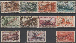 112/ Mi;22/32;used;1929;Cat €  25.00 Saarland.Dienst - Used Stamps