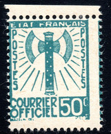 FRANCE,1943 OFFICIAL Y.T. 4,MNH,AXE,WW II - Unclassified
