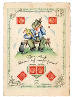 DEUTSCHES REICH STAMP CARD Jahre 1940 - Brieven En Documenten