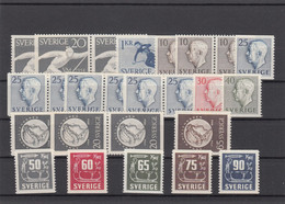 Sweden 1954 - Full Year MNH ** - Volledig Jaar