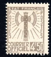 73 FRANCE,1943 OFFICIAL Y.T. 11 4.5FR.,MNH,AXE,WW II - Sin Clasificación