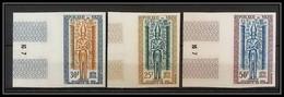 92139 Niger Poste Aérienne PA N° 38/40 Sauvegarde Des Monuments De Nubie Nubia Non Dentelé Imperf ** MNH - Niger (1960-...)
