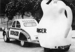 Citroen 2CV  -  Publicité Berger  -  Tour De France 1961 -   CPM - PKW