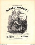 L'incomparable, Mirobolanpouff. Parade Charlatanesque. Partition Ancienne, Grand Format, Couverture Illustrée De Stop - Partituren