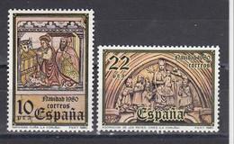 Spain 1980 - Christmas, YT 2227/28, Neufs** - 1971-80 Nuevos & Fijasellos