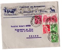 CHAMONIX FABRIQUE DE SONNETES SIMOND FRERES  1949 - Werbung