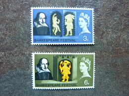 1964  Shakespeare Festival  SG = 646 / 647   **  MNH  Perfect - Unused Stamps