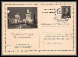 2384 Tchécoslovaquie Czechoslovakia Entier Stationery Carte Postale N°41 Espéranto Pour Leipzig 1932 Allemagne Germany - Postales