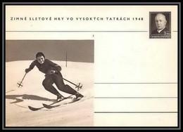 2385 Tchécoslovaquie Czechoslovakia Entier Stationery Carte Postale (postcard) N°100 Benes 1.50k 1948 - Postales