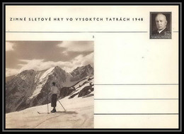 2386 Tchécoslovaquie Czechoslovakia Entier Stationery Carte Postale (postcard) N°100 Benes 1.50k 1948 - Postales