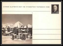 2387 Tchécoslovaquie Czechoslovakia Entier Stationery Carte Postale (postcard) N°100 Benes 1.50k 1948 - Postales
