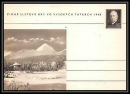 2389 Tchécoslovaquie Czechoslovakia Entier Stationery Carte Postale (postcard) N°100 Benes 1.50k 1948 - Postales