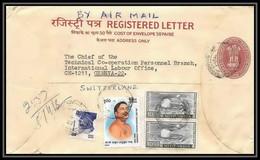 1889/ Inde (India) Entier Stationery Enveloppe (cover) Registered Letter 1987 Suisse (Swiss) - Sobres