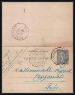 1534/ France Entier Stationery Carte Lettre SEL B6 Date 821 Ceyzériat Ain CONVOYEUR Saint Trivier De Courtes à CHALONS - Cartes-lettres