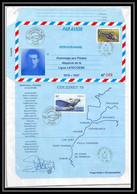 5126/ 2000 Ligne Latecoere Pegase Tirage Numerote 49/120 France Entier Aerogramme Eurocopter EC135 Stationery - Aérogrammes