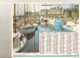 Calendrier PTT 1975 Le Port De St Malo Et Cathédrale Ste Lucile à Albi - Big : 1971-80