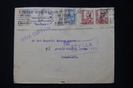 ESPAGNE - Enveloppe Commerciale De Sévilla Pour Le Maroc En 1937 Avec Cachet De Censure - L 89853 - 1931-50 Cartas