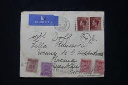 MAROC - Taxes De Casablanca Sur Enveloppe De Blackpool En 1937 Par Avion - L 89854 - Lettres & Documents