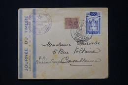 MAROC - Enveloppe De La Journée Du Timbre De Casablanca En 1945 - L 89855 - Briefe U. Dokumente