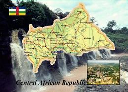 Central African Republic Map New Postcard Zentralafrikanische Republik Landkarte AK - Repubblica Centroafricana