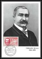 1058/ Carte Maximum (card) France N°1097 Octave Terrillon Chirurgien L'asepsie Medecine Fdc (premier Jour) 1957 - 1950-59