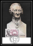 2650/ Carte Maximum (card) France N°1699 Académie Nationale De Médecine.antoine PORTAL - 1970-79