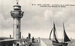62. CALAIS LE PHARE DE LA JETEE OUEST - Calais