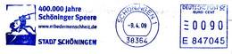 Freistempel Kleiner Ausschnitt 296 400.000 Jahre Schöninger Speere Erbe Der Menschheit - Machine Stamps (ATM)