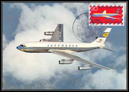 Allemagne (germany) Carte Maximum (card)  - 1742 - N° 2 PA Avion (plane Planes Avions)  BOEING 707 - Cartas Máxima