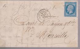 LAC - N° 14Ae (bleu Sur Lilas) - OBL. PC De LA ROCHELLE - 10 AVRIL 58 - 1849-1876: Klassik