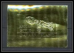 310 Davaar Scotland Apollo Soyuz (soyouz Sojus) Timbres OR Gold Stamps Géant Large Lollini 6000 Dav 9 - Scotland