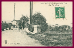 CALUIRE - Le Pont Des Mercières - Animée - Edit. S. FARGES - Caluire Et Cuire