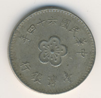 TAIWAN 1975: 1 New Dollar, Y# 536 - Taiwan