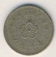TAIWAN 1970: 1 New Dollar, Y# 536 - Taiwan