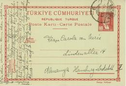 Turkey Postal Stationery To Germany (449) - Ohne Zuordnung