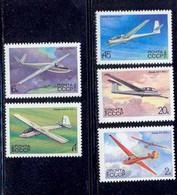 Russie (Russia Urss USSR) - 134 - N° 4974 / 4978 Avion (plane Planes Avions) VOL A VOILE PLANEUR - Vliegtuigen