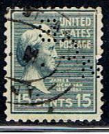ÉTATS-UNIS 2563 // YVERT 385 // 1938 - Perforados