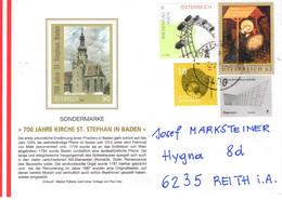 Brief Von 3400 Klosterneuburg Mit 85 Cent Mischfrankatur Auf FDC St. Stephan Bei Baden 2021 - 2011-... Cartas