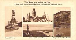 Der Rhein Von Mainz Bis Köln Schöner Bildbrief Blanc - Cartas