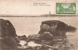 Maroc N°66 Seul Sur Carte Ecrite En 1926 Cachet Militaire Rabat L' Oued Bou Regreg - Lettres & Documents