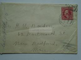 AV652.15  USA  Cover Cancel  1911 Laconia New Hampshire - Covers & Documents