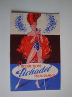 """Cabaret,Music-Hall,productions TICHADEL,Pin-Up,présentent"""" Splendeur Joyeuse"""" De Jean Valmy,Bordeaux - Programas"""